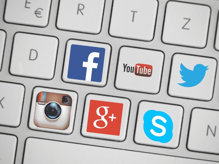 Facebook, Twitter, Instagram, Youtube